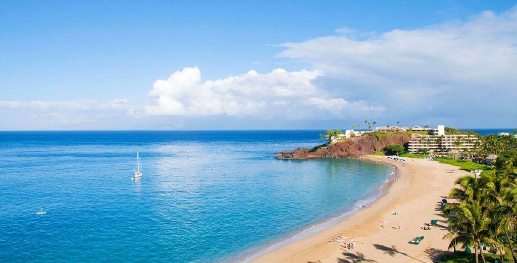 Plage de sable fin à Hawaii