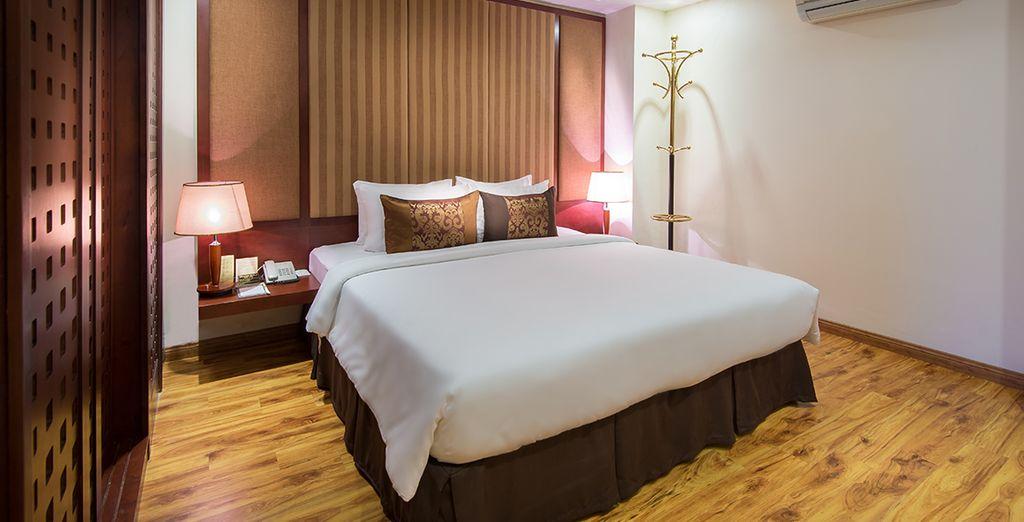 Vous passerez des nuits douces et tranquilles dans des chambres Standard ou chez l'habitant