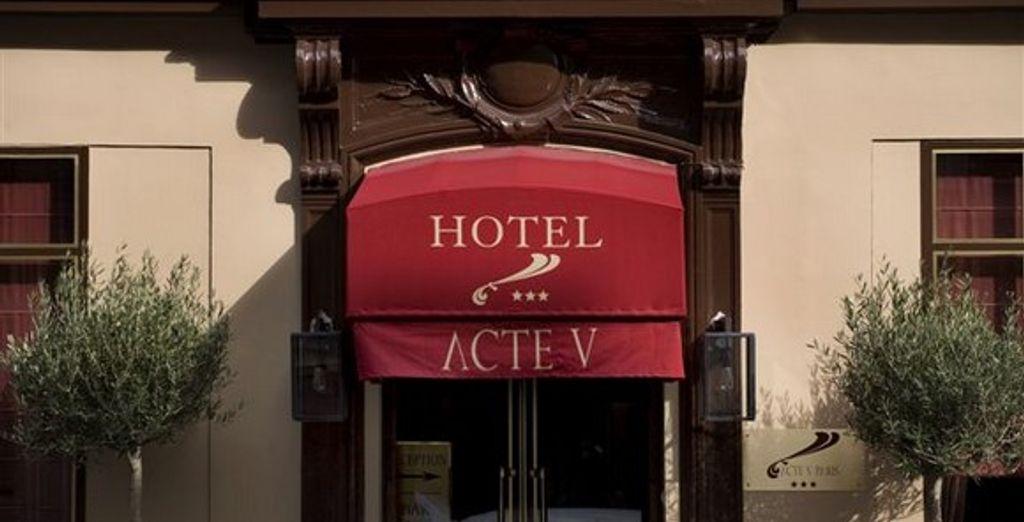 La façade - Hôtel Acte V *** - Paris - France Paris