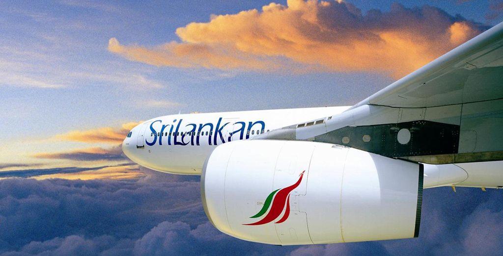 Pour rejoindre ce séjour de rêve, envolez-vous avec SriLankan Airlines