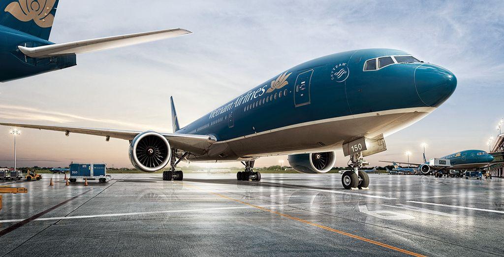Choisissez en option de vous envoler avec Vietnam Airlines en classe Affaires avec supplément