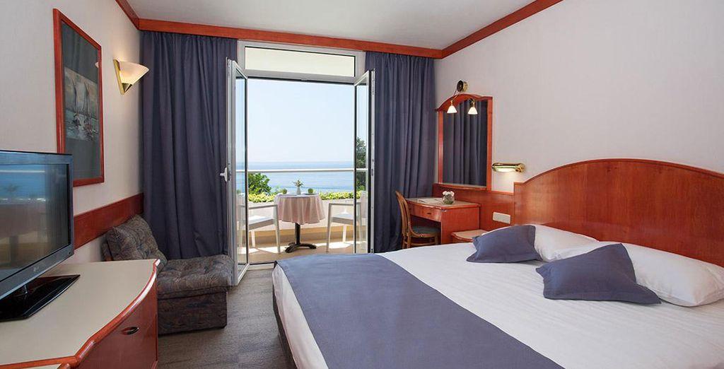 Hôtel de charme en Croatie, chambre double, sélectionné par Voyage Privé