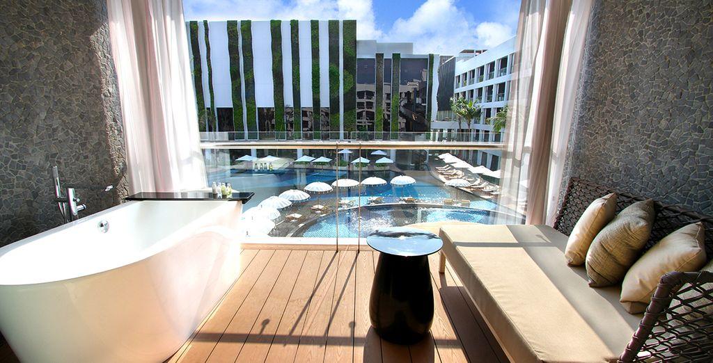 offrant une agréable vue sur la piscine