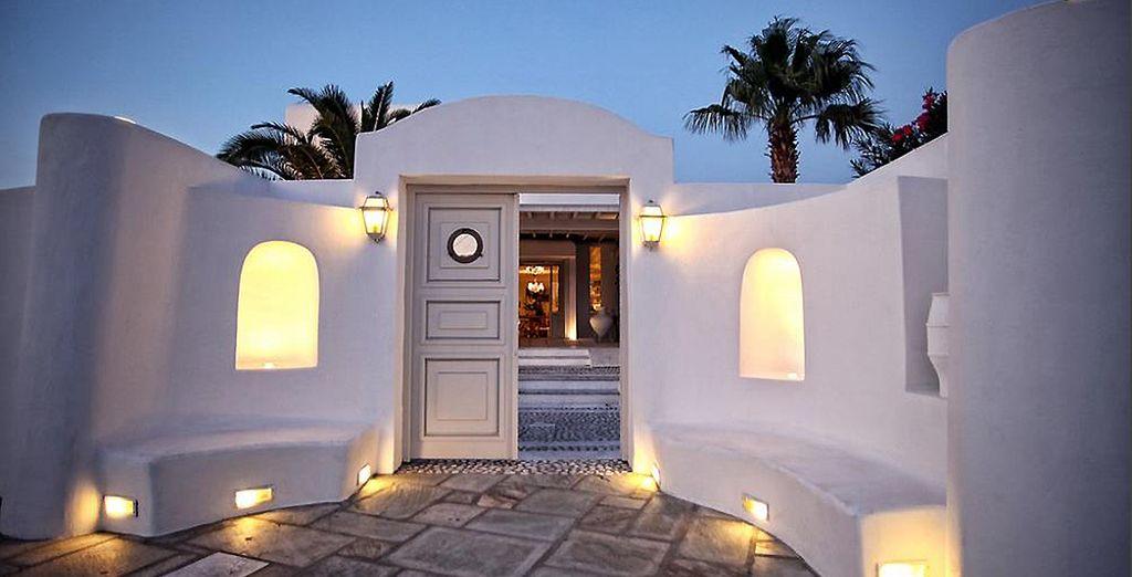 Vous adorerez sa décoration typique des Cyclades