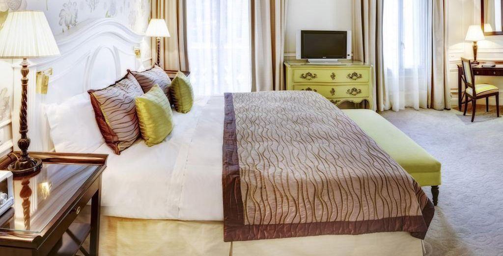 Vous aurez le choix entre le luxe de la Suite Junior Vue Ville
