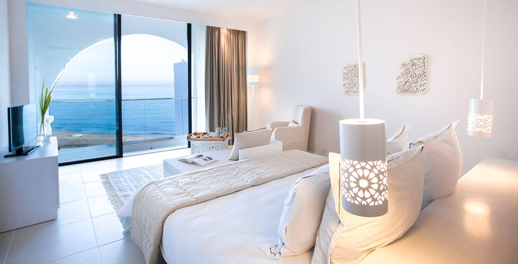 Hôtel  haut de gamme avec vue panoramique sur la mer méditerranée, chambre double tout confort située à Hammamet