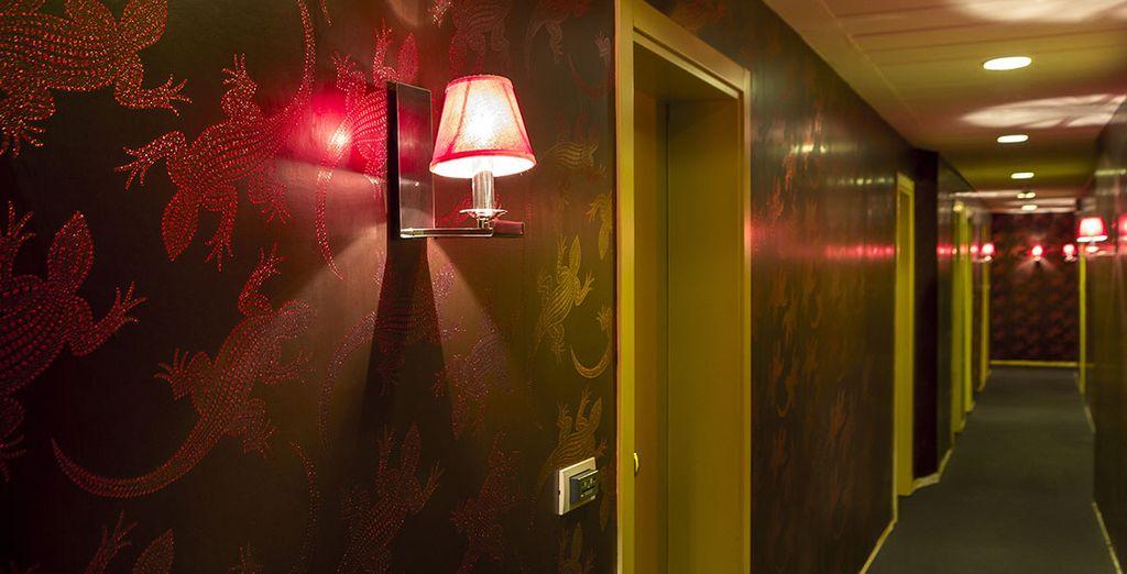 Et suivez le couloir jusqu'à votre chambre !