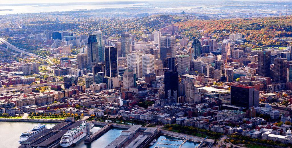 Photographie de la ville de Montréal lors d'un voyage au Canada