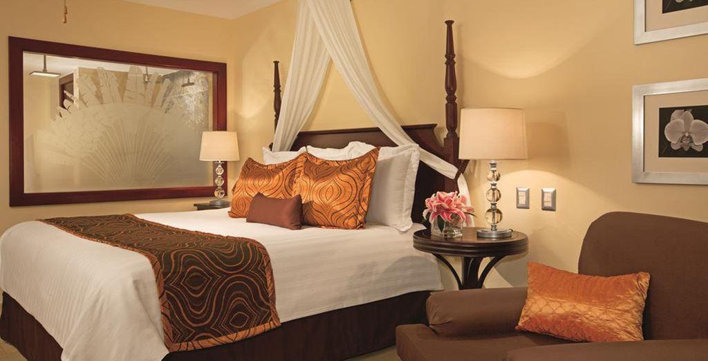Vous logerez en chambre Deluxe Tropical View