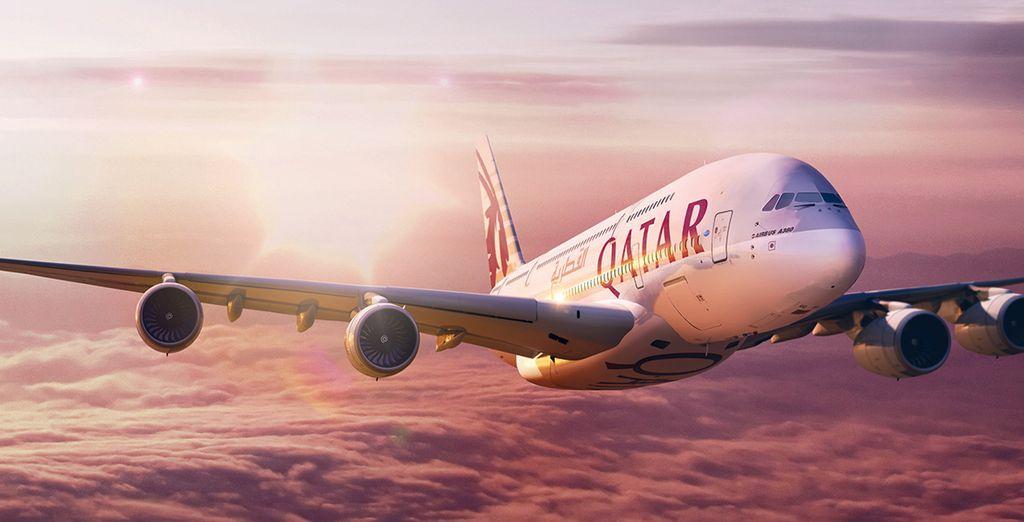 Vous voyagerez avec la compagnie Qatar Aiways