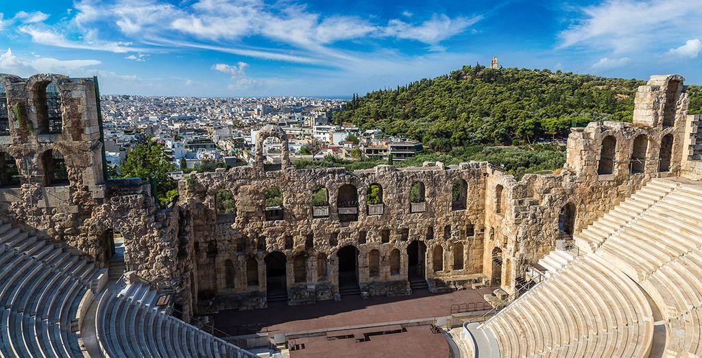 Plus précisément dans la majestueuse Athènes