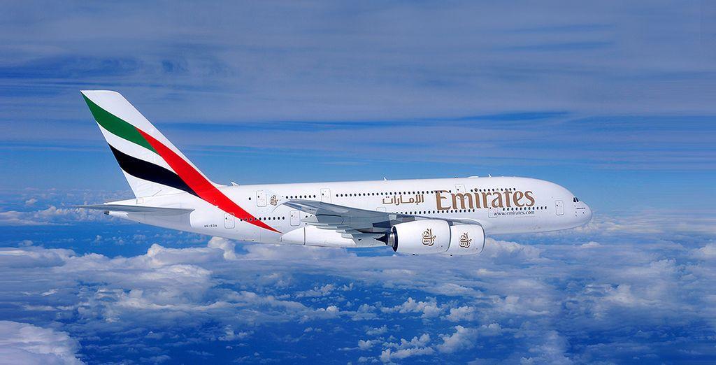 Pour parfaire ce voyage, offrez-vous en supplément un vol avec Emirates...