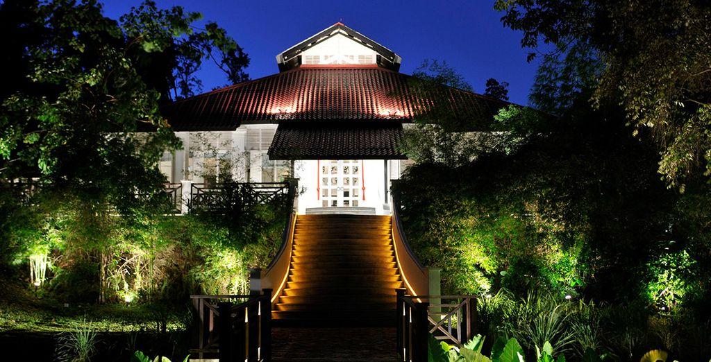 Un hôtel au coeur de la végétation à Singapour