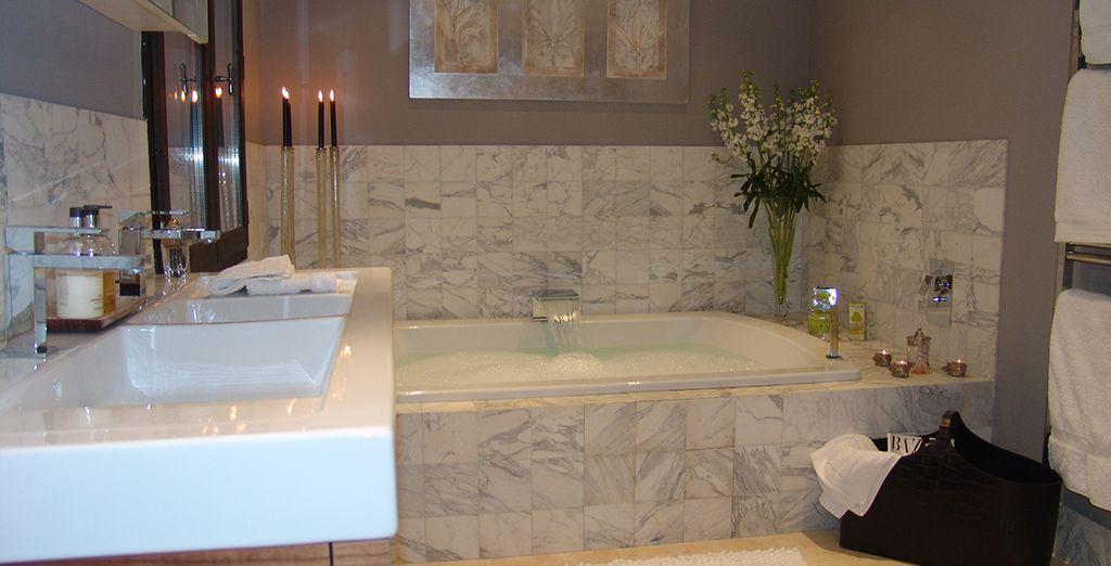 Et sa salle de bains digne des plus beaux établissements hôteliers