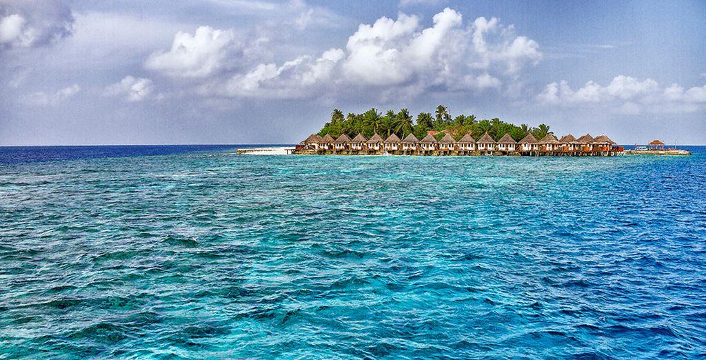Sur ce sublime atoll des Maldives