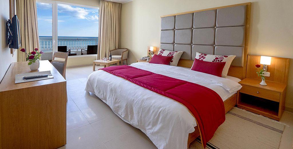 Séjournez dans une chambre confortable et spacieuse