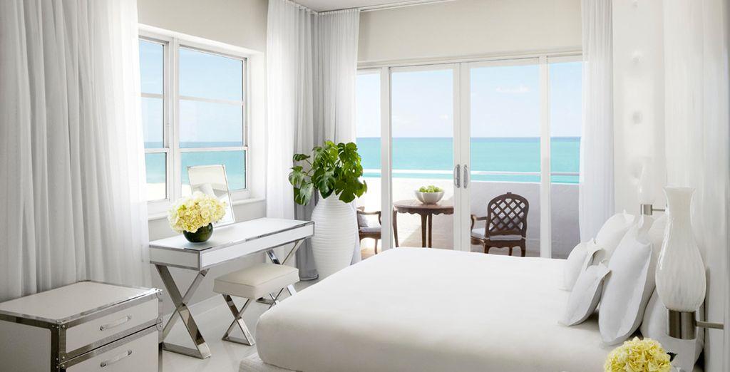 Vous passerez votre séjour dans une ravissante chambre avec vue partielle sur l'océan...