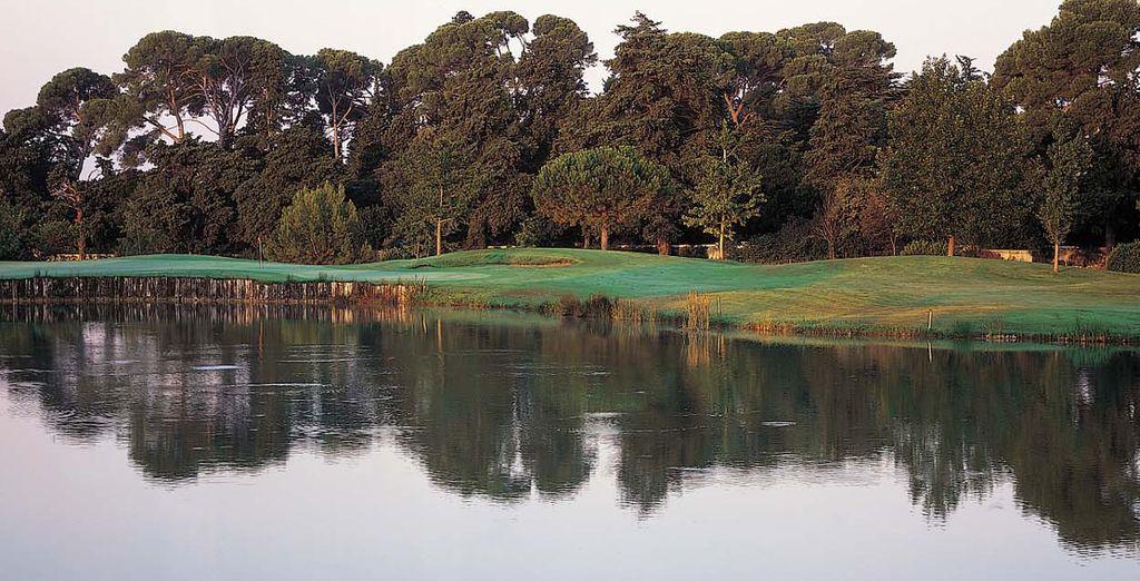 Le parcours de golf...