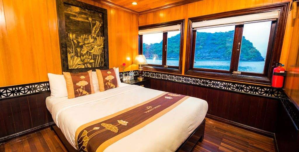 Confortablement installé dans un bateau 3*, 4* ou 5*