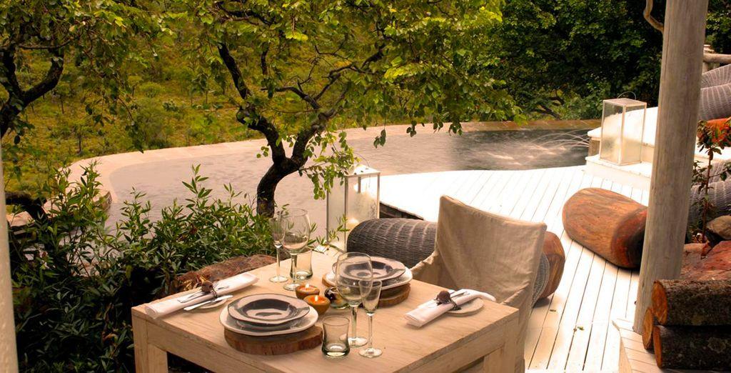 Profitez de votre terrasse et piscine privées dans une atmosphère intimiste
