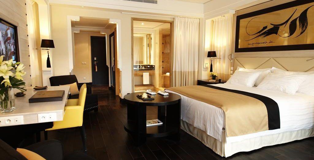 Confortablement installé dans votre chambre Supérieure