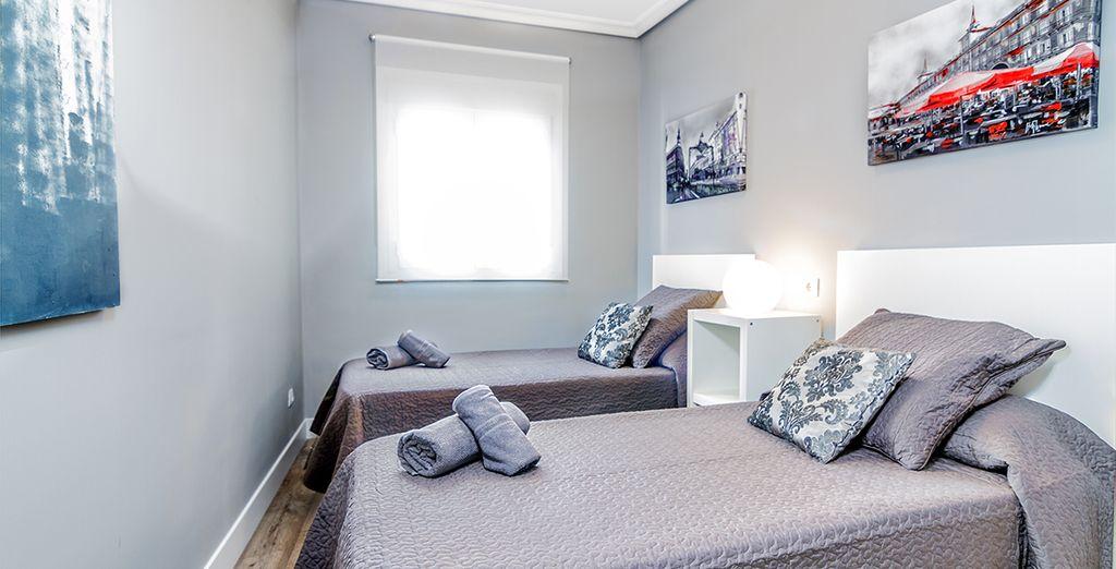 La deuxième avec 2 lits simples