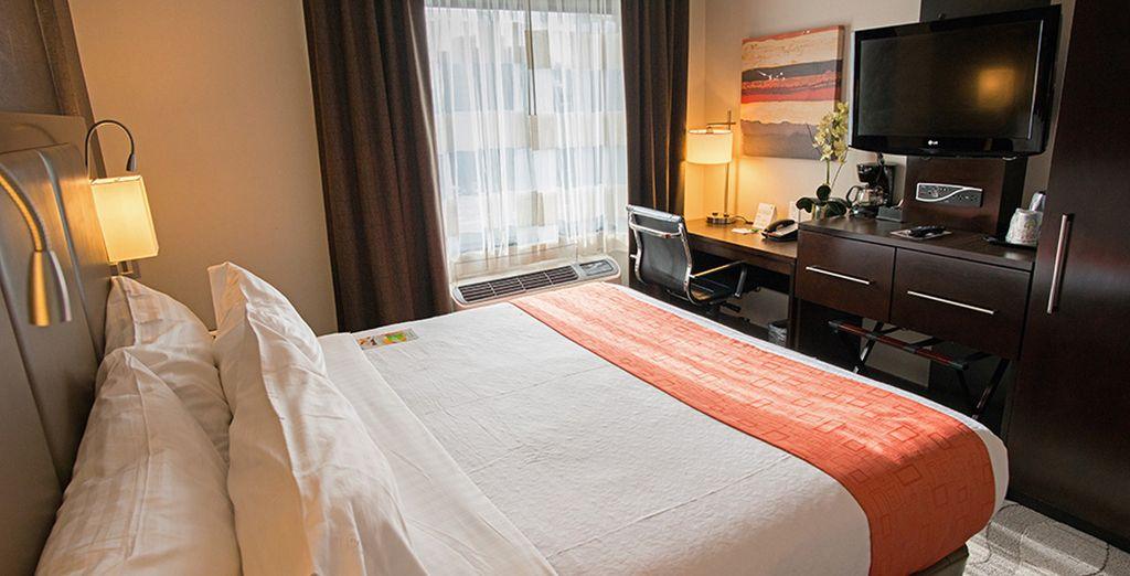 Installez-vous confortablement dans votre chambre standard