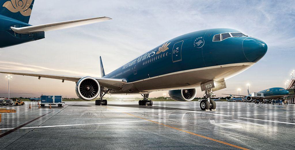 Vous pourrez choisir de partir pour le Vietnam sur la compagnie Vietnam Airlines...