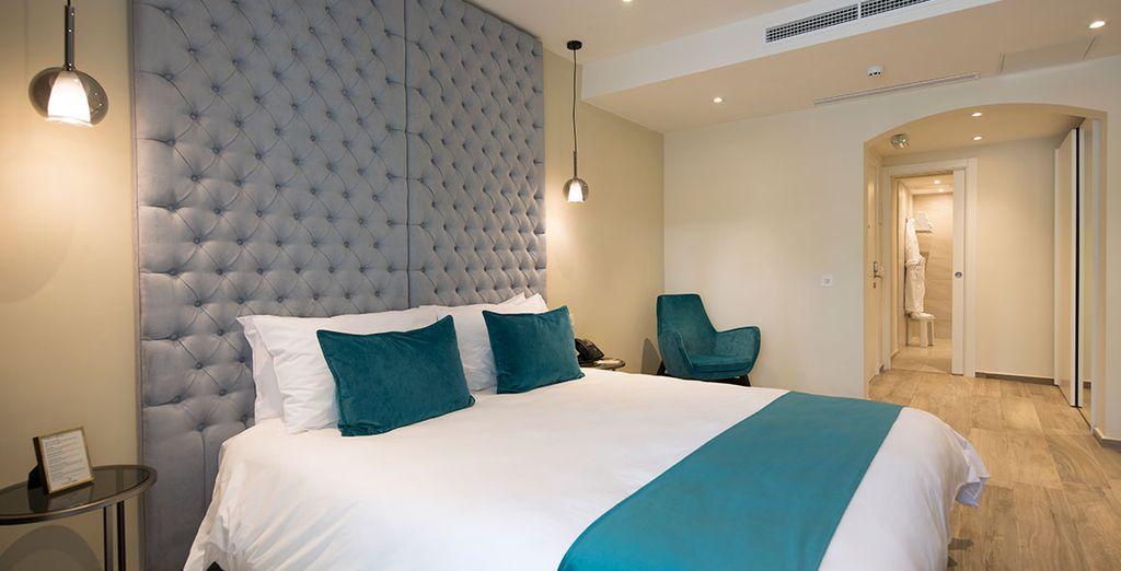 Hôtel haut de gamme, chambre double tout confort à La Valette au cœur de Malte