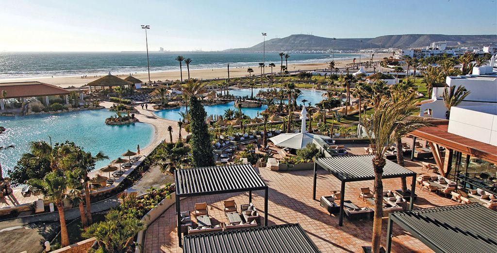 Dans la baie d'Agadir...