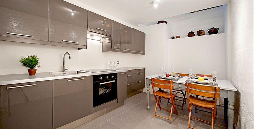 Appartement 4 : La cuisine / salle-à-manger