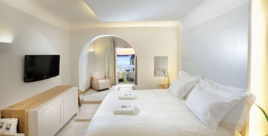 Ou, si vous le souhaitez, le confort de la chambre Deluxe Sea View