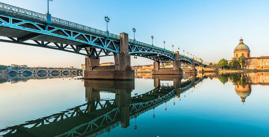 Photographie de Toulouse et du pont Saint-Pierre