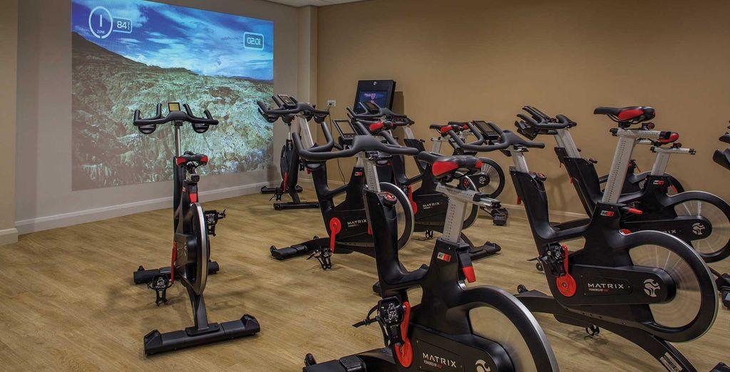 À votre retour, profitez-en pour faire un peu d'exercice à la salle de fitness
