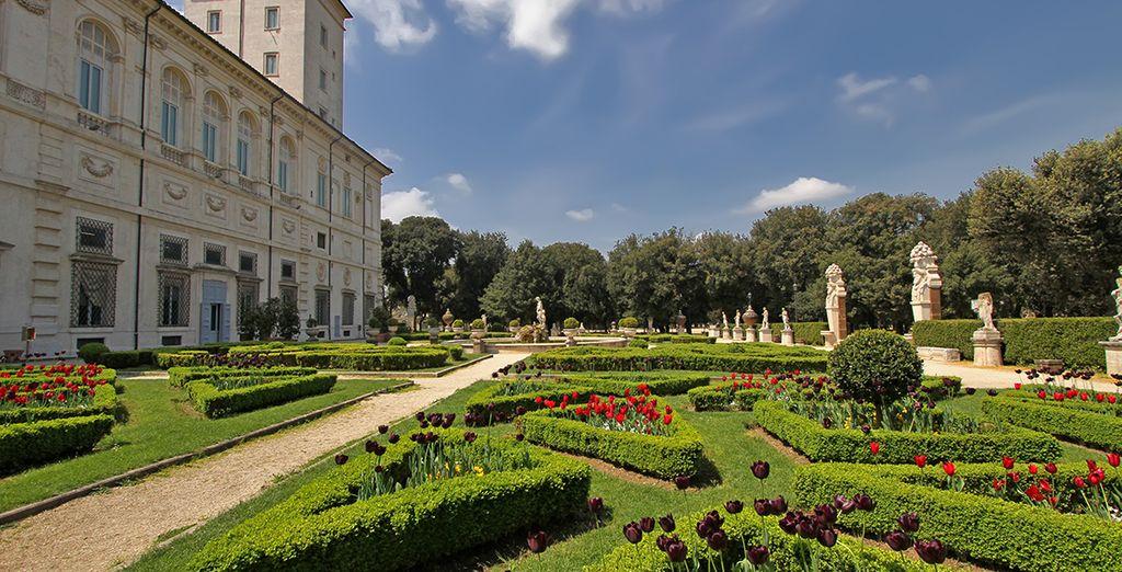 Les jardins de la villa Borghese