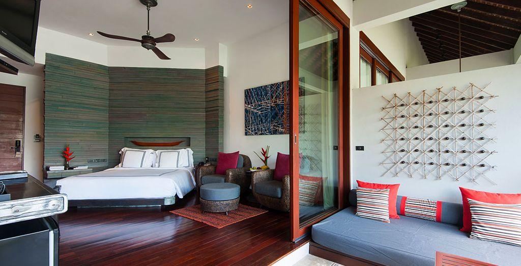 Vous pourrez choisir de vous installer en Suite Pearl Bed