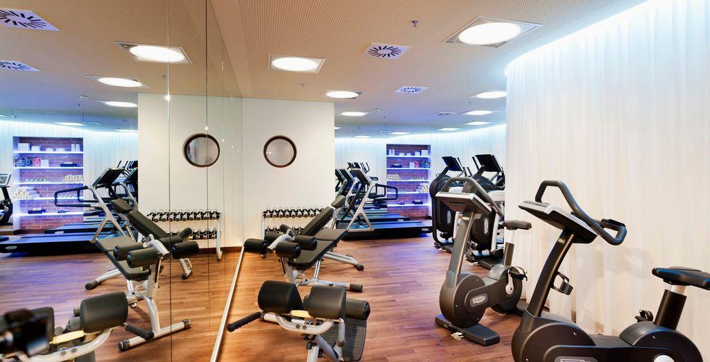 Ou bien dirigez-vous vers la salle de fitness pour vous maintenir en forme