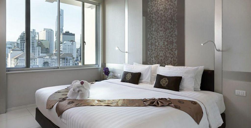 Hôtel de charme à Bangkok avec vue panoramique et piscine chauffée