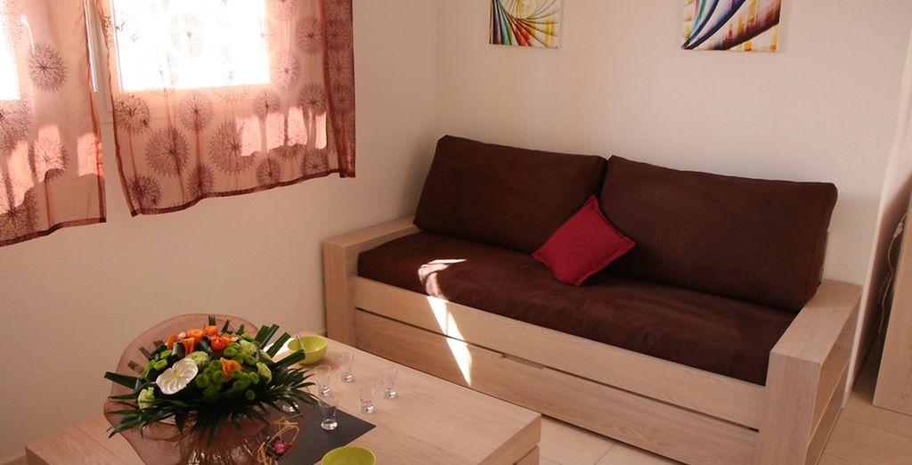 et du mobilier confortable