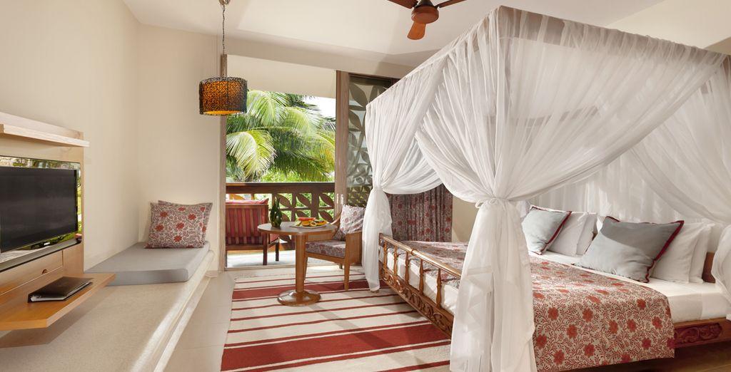 Posez vos valises dans votre agréable chambre avec terrasse - Hôtel Melia Zanzibar 5* Zanzibar
