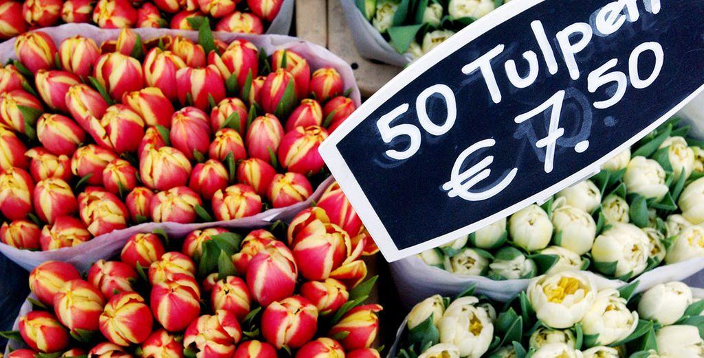 Baladez-vous dans les marchés aux fleurs