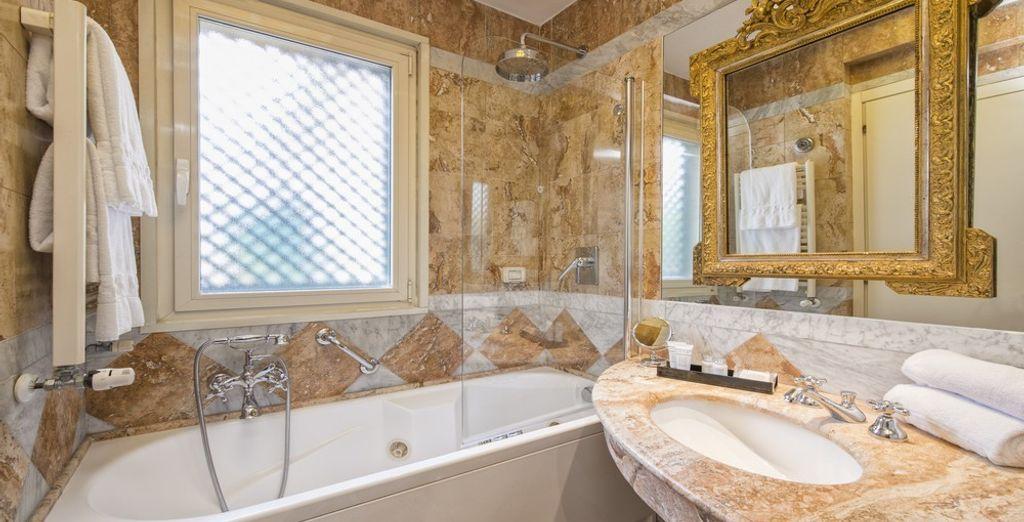 Persino i bagni presentano un design da favola!