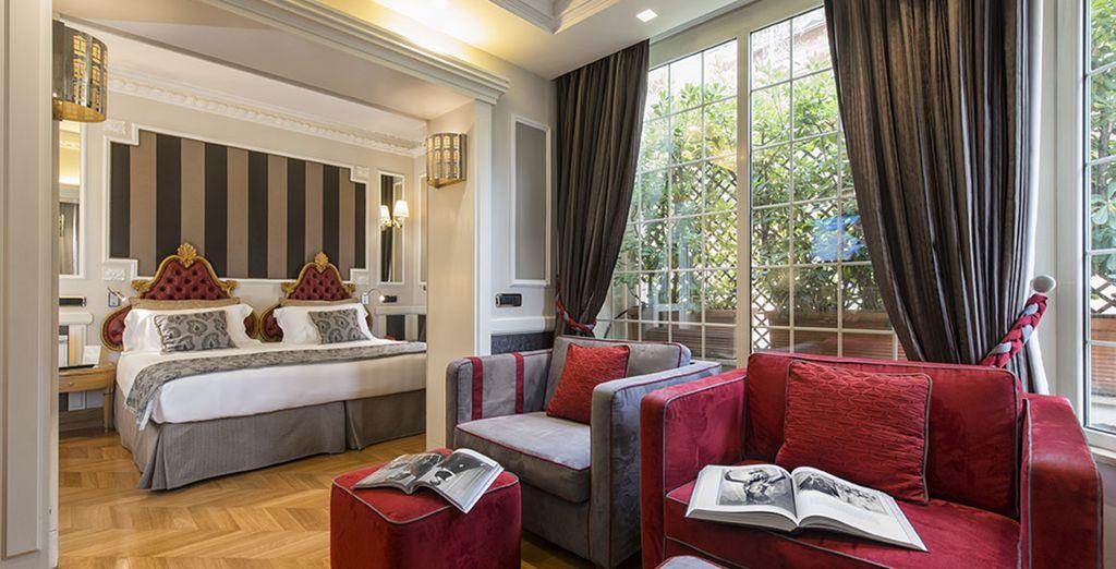 Entrate in un hotel romantico dove le ricercatezze del vecchio mondo incontrano una sovrabbondanza di comfort.