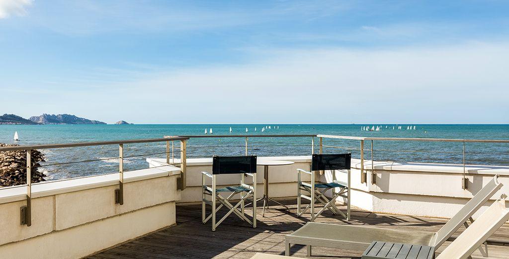 E potrete abbronzarvi al sole del Mediterraneo sulla terrazza solarium