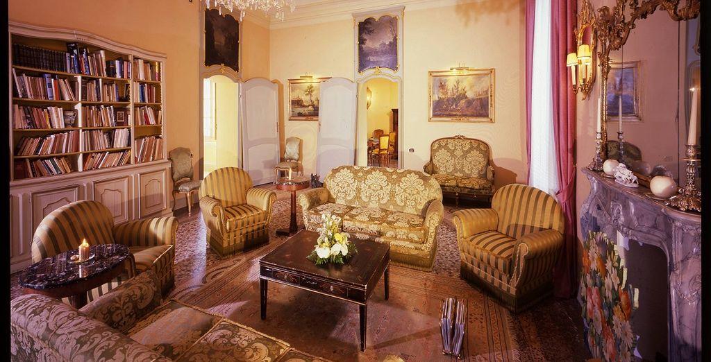 Gli interni classici ed eleganti