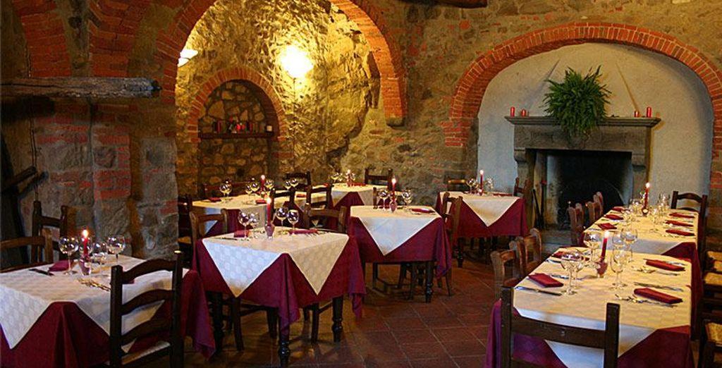 Potrete gustare i piatti della tradizione toscana all'Osteria di Starda