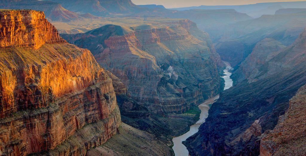 Fotografia del Grand Canyon Natural Park negli Stati Uniti d'America