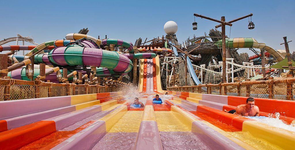 Altrimenti scegliete di vivere momenti all'insegna del divertimento all'Yas Waterworld tra scivoli e attrazioni