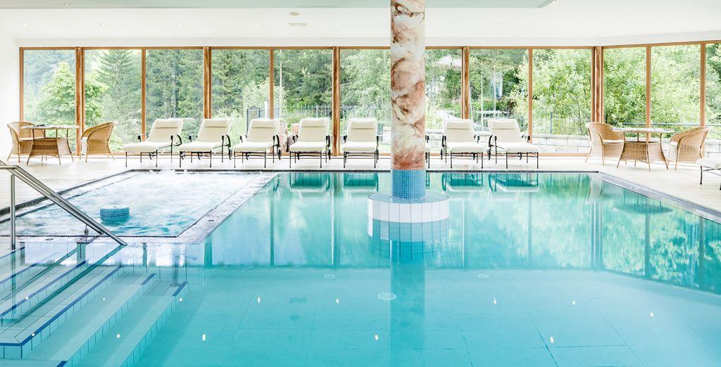 Hotel di lusso a 4 stelle a Racines con piscina interna riscaldata e vista sulle Alpi italiane