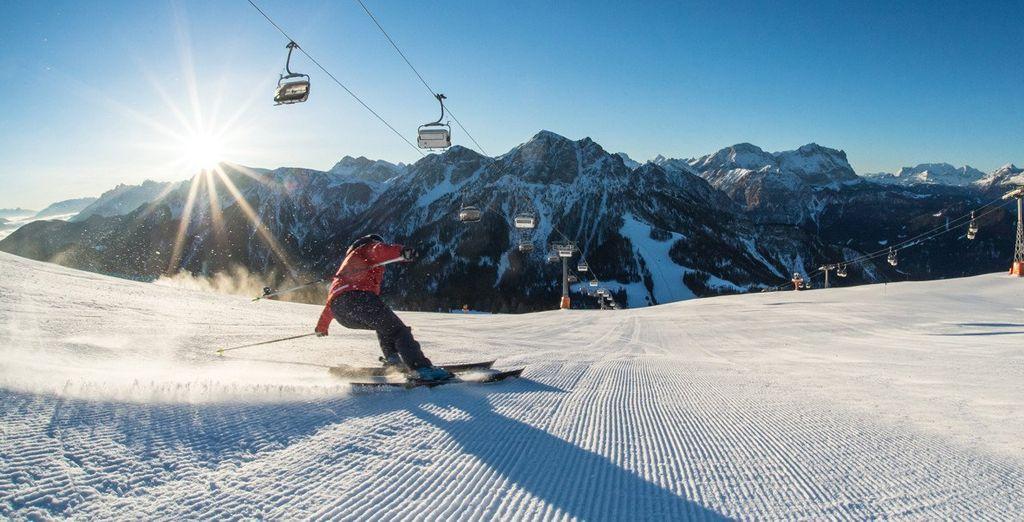 100 km di piste, 1 snowpark e la possibilità di effettuare degli snow safari